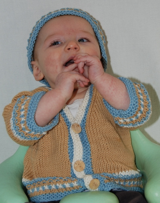 Jumps Amp Bumps Baby Boy Sweater Amp Hat Brown Sheep Company