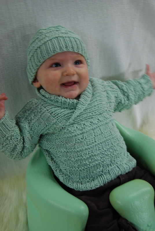 Busy Baby Boy Sweater Amp Hat Brown Sheep Company Inc
