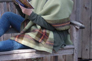 Woven Blanket Cape: a project collaboration with Schacht